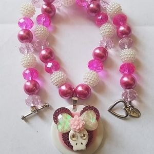 Jewelry - Handmade Mickey Skull Face Necklace